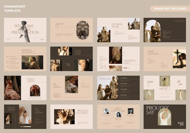 Modello di presentazione di diapositive minime di moda Vettore Premium