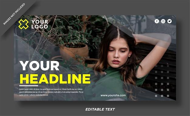 Fashion model cover social media Vettore Premium
