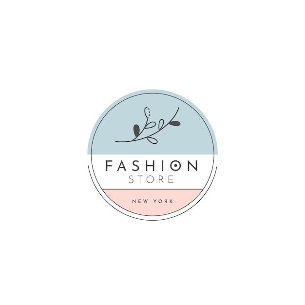 Modello di logo del negozio di moda Vettore Premium