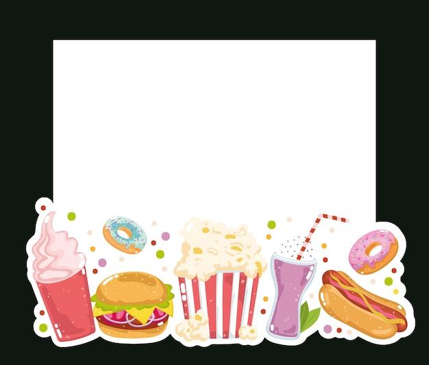 Prodotti per ristoranti fast food Vettore Premium