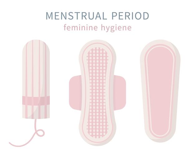 Protezione dei prodotti per l'igiene femminile Vettore Premium