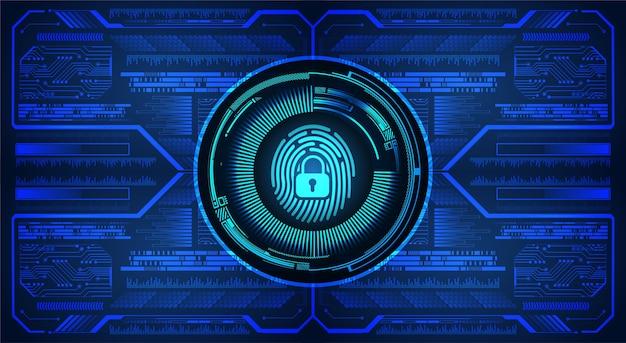 Sfondo di sicurezza informatica della rete di impronte digitali. Vettore Premium
