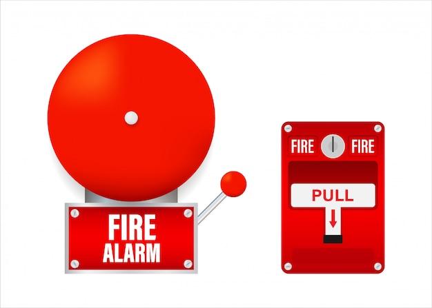 Sistema di allarme antincendio. Vettore Premium