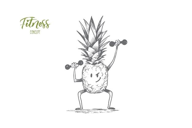 Illustrazione di concetto di fitness Vettore Premium