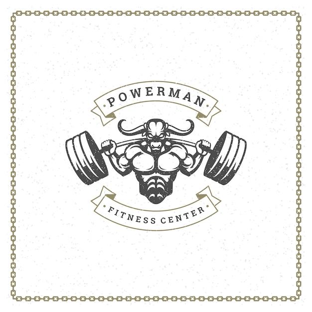 Logo palestra fitness Vettore Premium