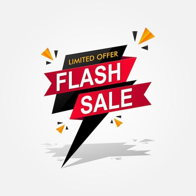 Banner di vendita flash. illustrazione del modello di offerta speciale e limitata Vettore Premium