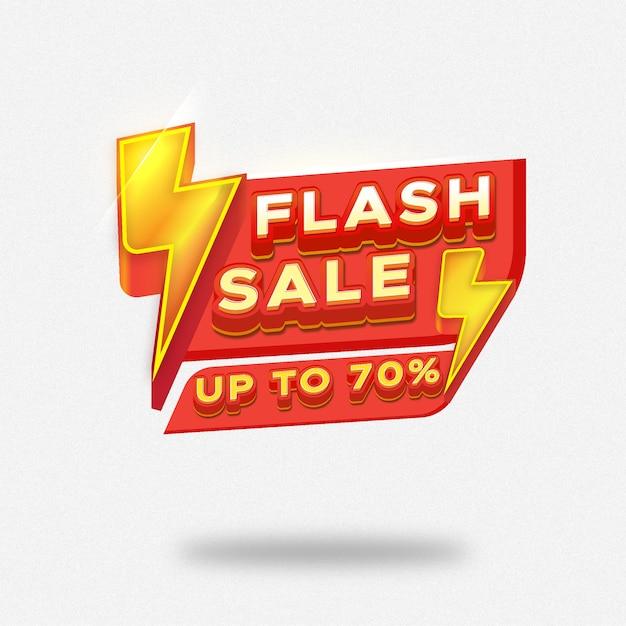 Banner di vendita flash con modello di tuono Vettore Premium