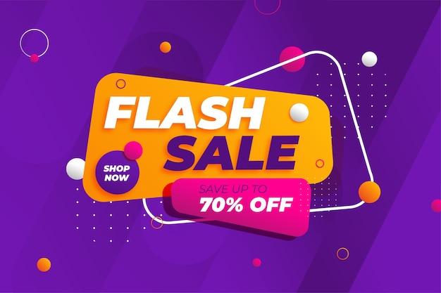 Sfondo di promozione banner sconto vendita flash Vettore Premium