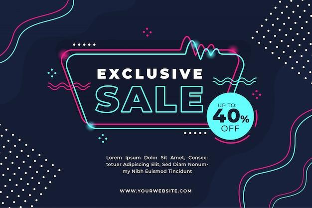 Modello di banner di promozione vendita flash Vettore Premium