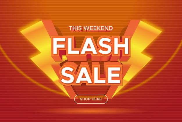 Banner di promozione di vendita flash Vettore Premium