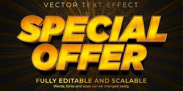 Sconto modificabile per effetti di testo in vendita flash e stile di testo Vettore Premium