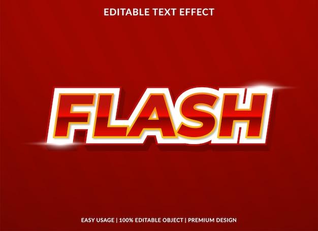 Stile del modello di effetto di testo di vendita flash Vettore Premium
