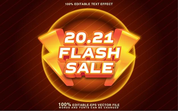 Effetto stile testo di vendita flash Vettore Premium
