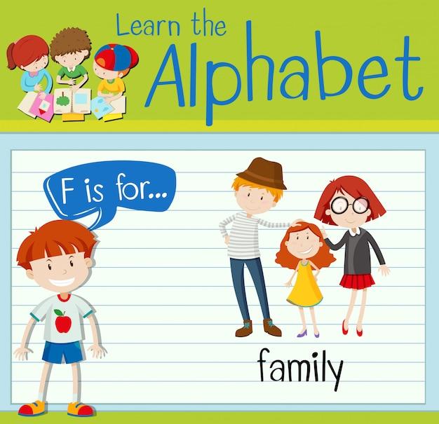 La lettera f di flashcard è per la famiglia Vettore Premium