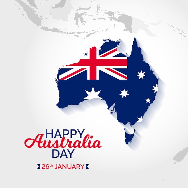 Design piatto australia day Vettore Premium