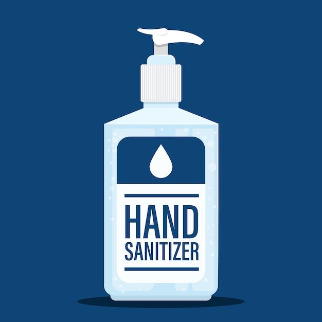 Disinfettante per le mani in gel dal design piatto Vettore Premium