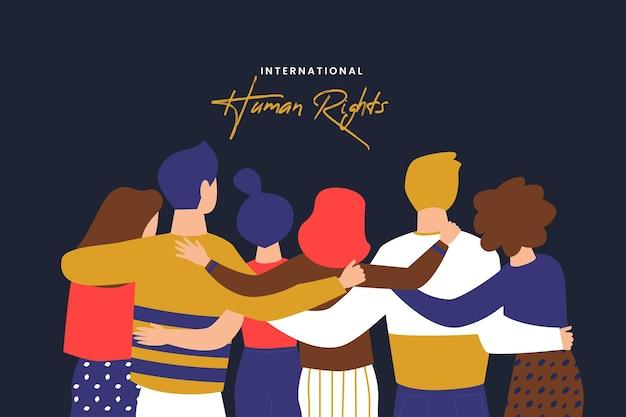 Giornata internazionale dei diritti umani di design piatto Vettore Premium