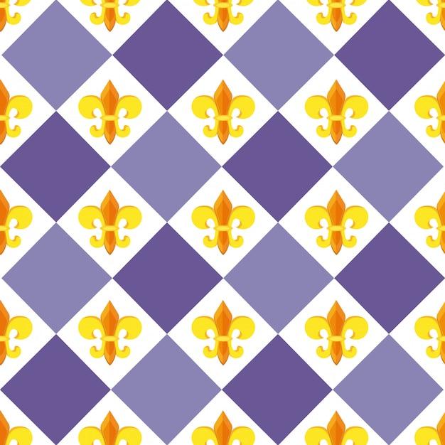 Fleur de lis pattern di sfondo Vettore Premium