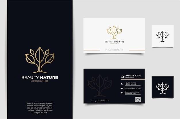 Design del logo del fiore con stile art line. i loghi possono essere utilizzati per spa, salone di bellezza, decorazione, boutique Vettore Premium
