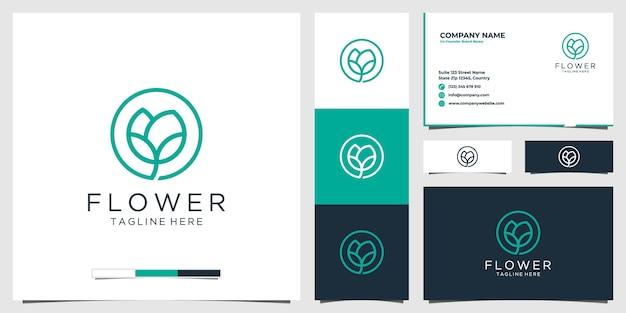 Icona con il logo del fiore Vettore Premium