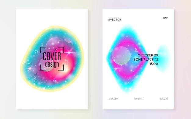 Forma fluida. concetto chimico. sfondo futuristico. ologramma a strati astratto. s Vettore Premium