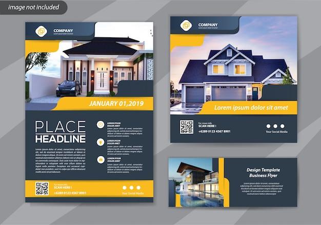 Modello di business flyer Vettore Premium