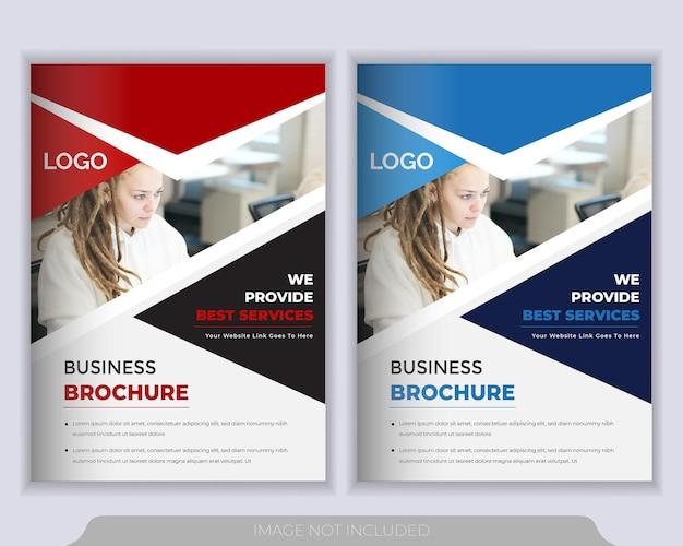 Modello di layout volantino. relazione annuale, modello di presentazione della copertina dell'opuscolo Vettore Premium