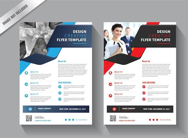 Modello di volantino per la relazione annuale di layout di copertina Vettore Premium