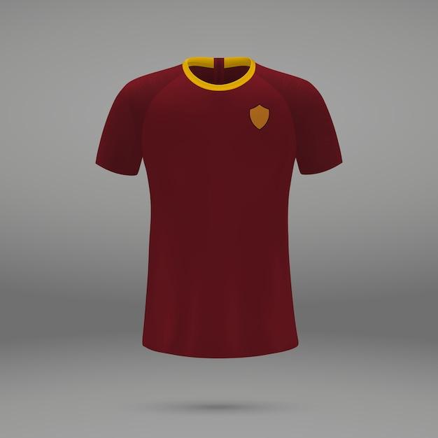 Kit calcio roma, modello di maglia per maglia da calcio | Vettore ...