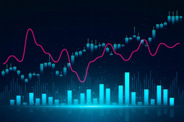 Forex trading sullo sfondo Vettore Premium
