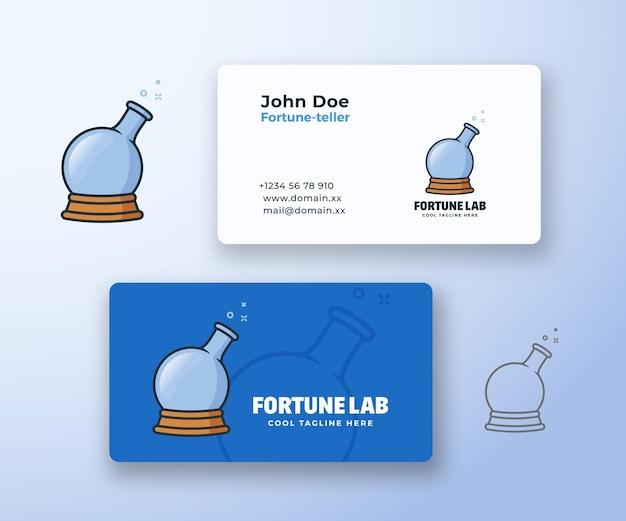 Segno di vettore astratto di fortune laboratory o logo e modello di biglietto da visita. Vettore Premium