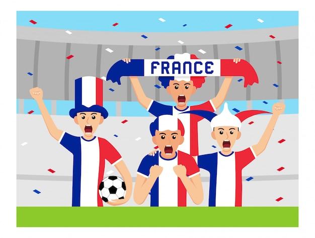 Sostenitori della francia in design piatto Vettore Premium