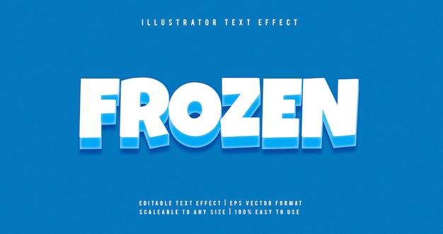 Effetto di carattere di testo del fumetto congelato Vettore Premium