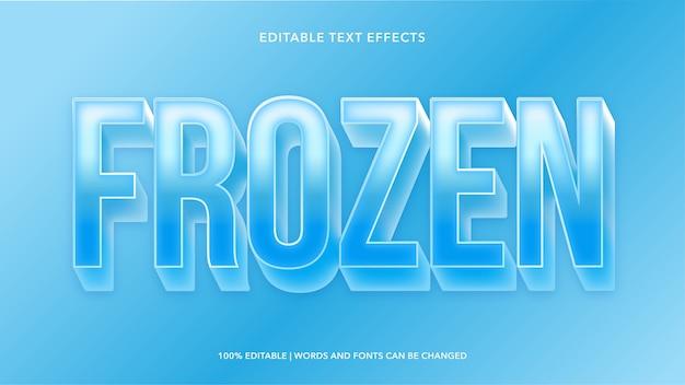 Effetti di testo modificabili congelati Vettore Premium