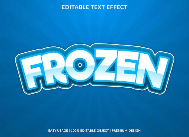 Effetto di testo congelato con stile audace Vettore Premium
