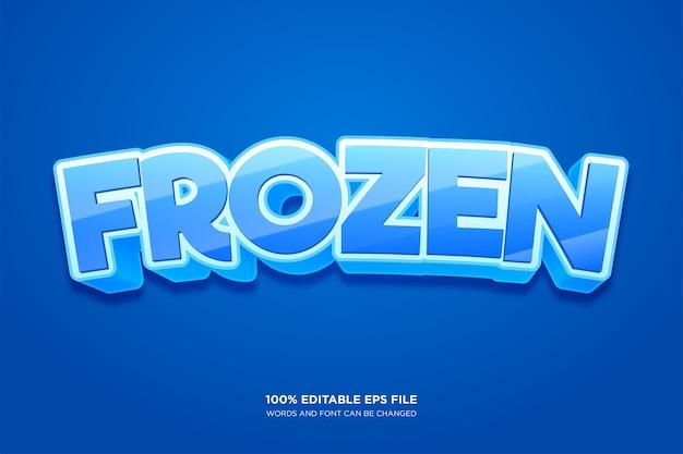 Effetto stile testo congelato Vettore Premium