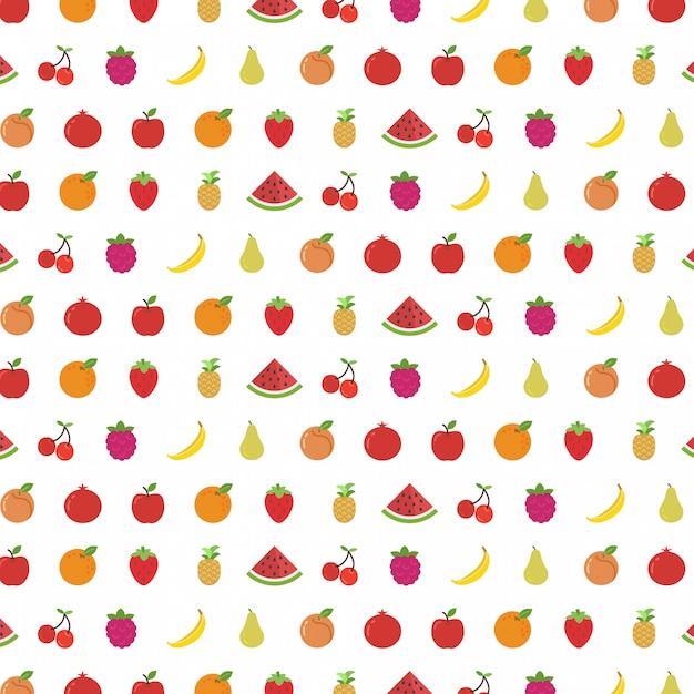 Progettazione del fondo del modello di frutti Vettore Premium