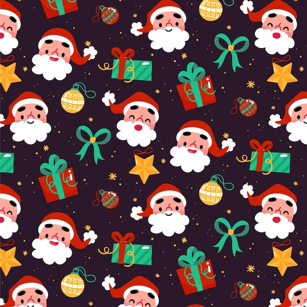 Divertente motivo natalizio Vettore Premium