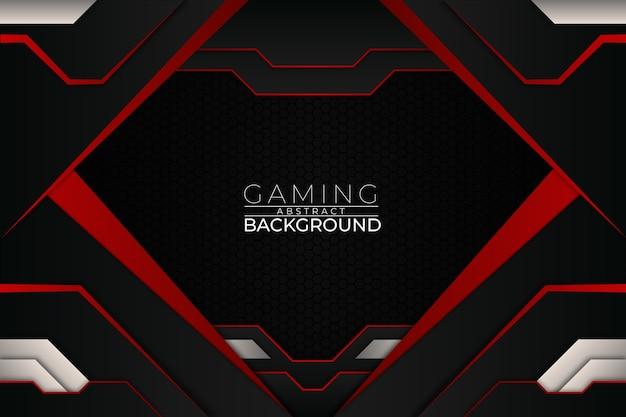 Sfondo di gioco futuristico in stile rosso Vettore Premium