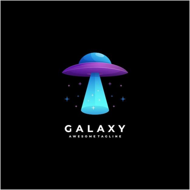 Galaxy logo design astratto moderno colorato Vettore Premium