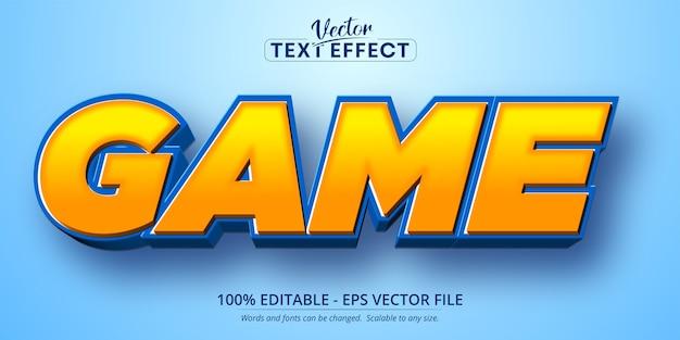 Testo di gioco, effetto di testo modificabile in stile cartone animato Vettore Premium