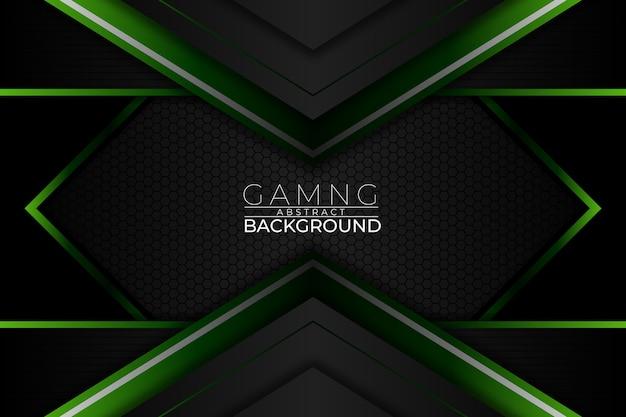 Gaming sfondo astratto stile verde scuro Vettore Premium