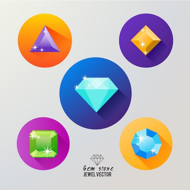 Icona di pietre preziose Vettore Premium