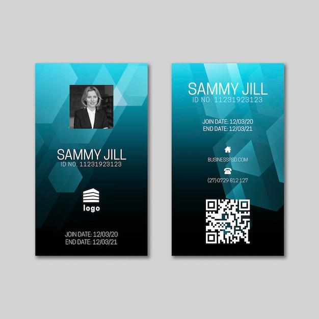 Modello di carta d'identità aziendale generale Vettore Premium