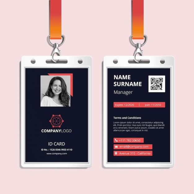 Carta d'identità aziendale generale Vettore Premium