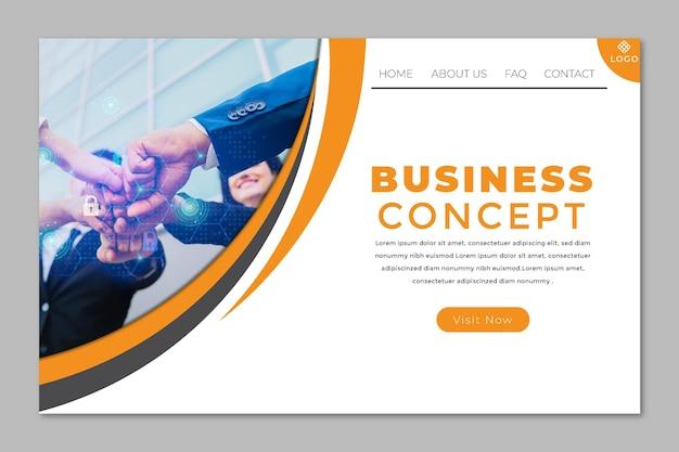 Pagina di destinazione aziendale generale Vettore Premium