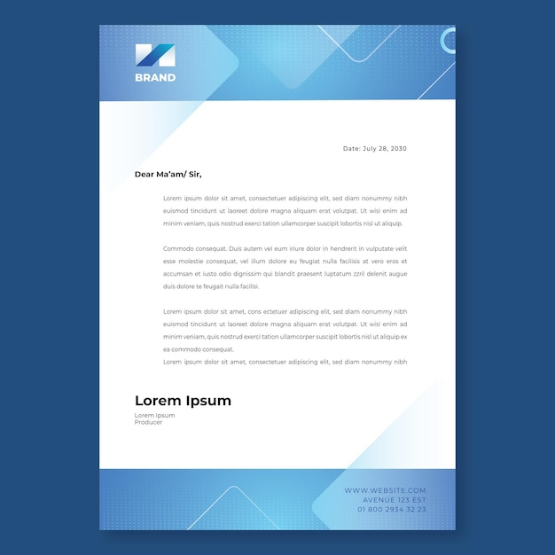 Carta intestata aziendale generale Vettore Premium