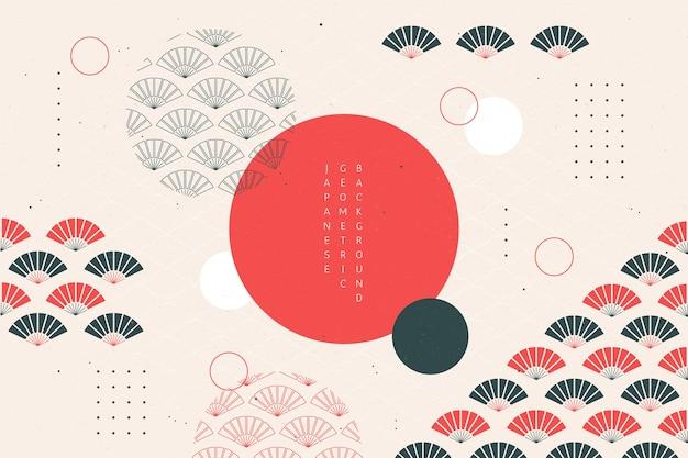 Sfondo geometrico in stile giapponese Vettore Premium