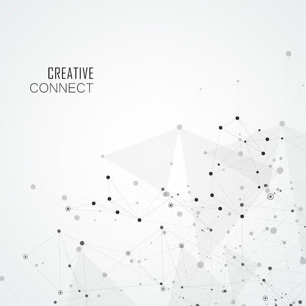 Sfondo geometrico con forme astratte collegate. sfondo moderno Vettore Premium