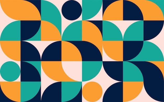 Modello di composizione di colore minimalista geometrico con forme. modello astratto scandinavo per banner web, packaging, branding. Vettore Premium